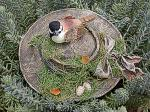 View details for this Chickadee nesting in Bonnet Figurine