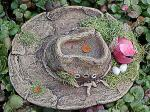 View details for this Cardinal nesting in Cowboy Hat Figurine