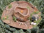 View details for this Chickadee nesting in Cowboy Hat Figurine
