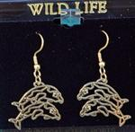 View details for this Dolphin wire earrings