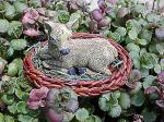 View details for this Fawn in Basket Figurine