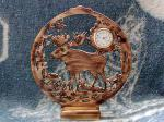 View details for this Moose Clock - wood