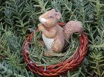 View details for this Squirrel in Basket Figurine