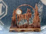View details for this Wooden Wolf Clock